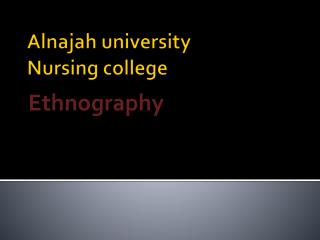 Alnajah  university Nursing college