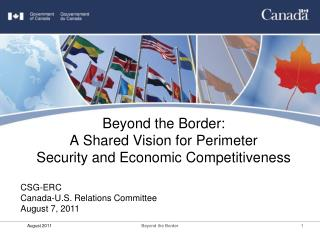 Beyond the Border: A Shared Vision for Perimeter Security and Economic Competitiveness