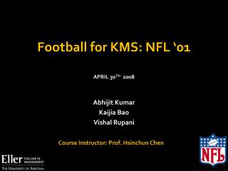 Football for KMS: NFL '01