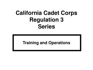 Training and Operations