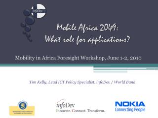 Mobile Africa 2049: What role for applications?