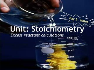 Unit: Stoichiometry