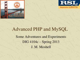 Advanced PHP and MySQL