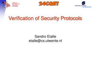 Verification of Security Protocols