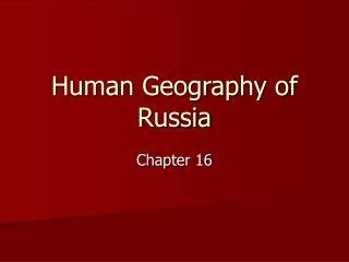 Human Geography of Russia