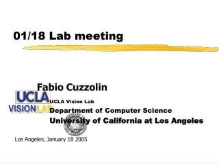 01/18 Lab meeting