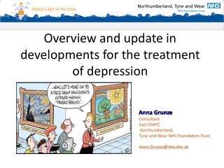 Overview and update in developments for the treatment of depression