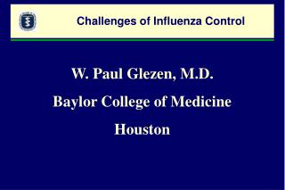 Challenges of Influenza Control