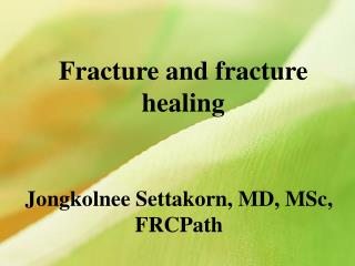 Fracture and fracture healing