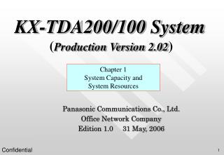 KX-TDA200/100 System ( Production Version 2.02 )