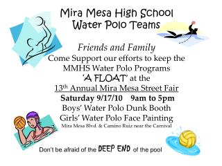 Mira Mesa High School  Water Polo Teams
