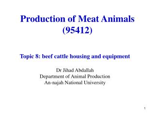 Production of Meat Animals (95412)