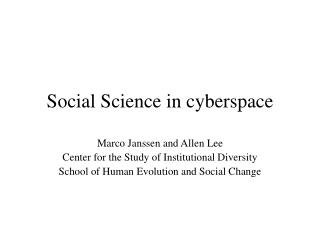 Social Science in cyberspace