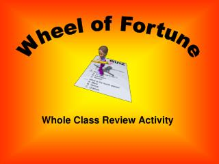 Whole Class Review Activity