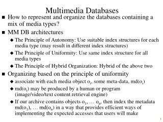 Multimedia Databases