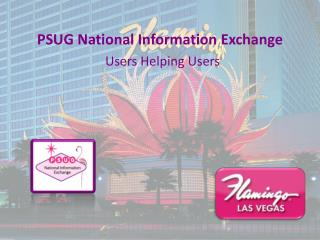 PSUG National Information Exchange