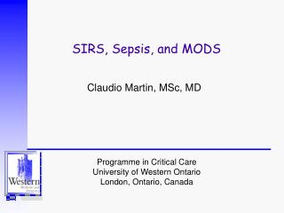 SIRS, Sepsis, and MODS