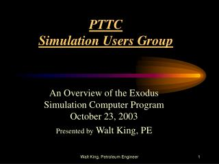 PTTC Simulation Users Group