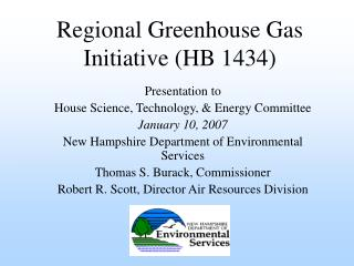 Regional Greenhouse Gas Initiative (HB 1434)