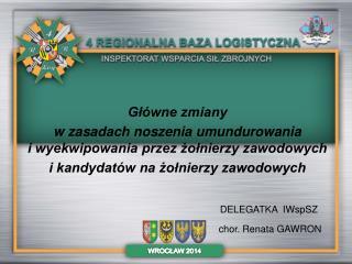 DELEGATKA IWspSZ chor. Renata GAWRON
