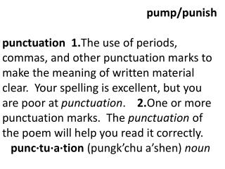 pump/punish
