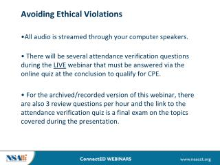 Avoiding Ethical Violations