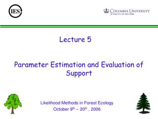 Parameter Estimation and Evaluation of Support