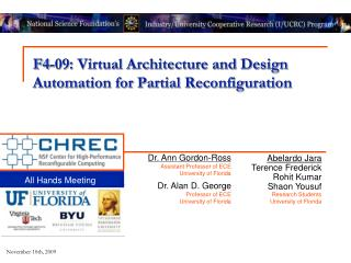 F4-09: Virtual Architecture and Design Automation for Partial Reconfiguration