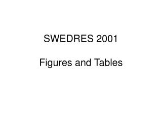 SWEDRES 2001 Figures and Tables