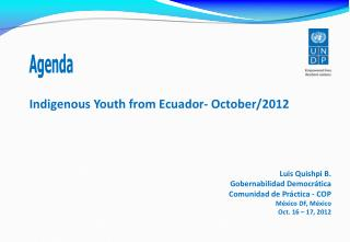 Indigenous Youth from Ecuador - October/2012