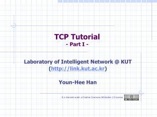 TCP Tutorial - Part I -