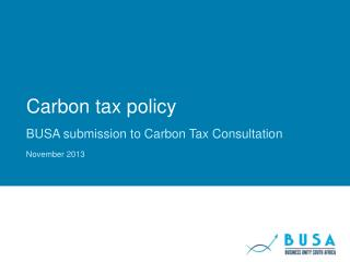 Carbon tax policy