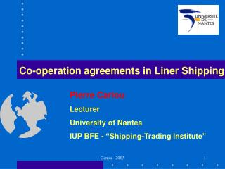 Co-operation agreements in Liner Shipping