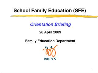 School Family Education (SFE)