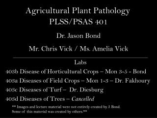 Agricultural Plant Pathology