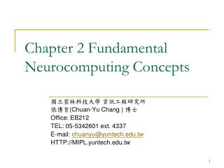 Chapter 2 Fundamental Neurocomputing Concepts