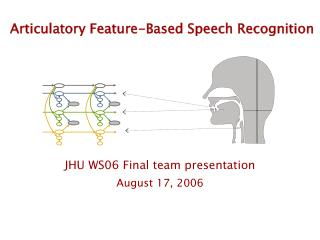 Articulatory Feature-Based Speech Recognition