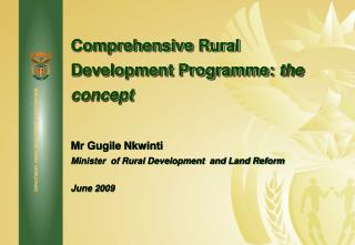 Comprehensive Rural Development Programme:  the concept