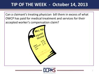 TIP OF THE WEEK  -  October 14, 2013