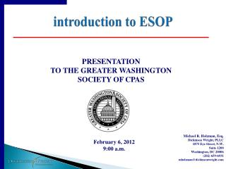 introduction to ESOP