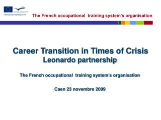 LIFELONG LEARNING IN FRANCE