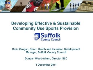 Developing Effective & Sustainable Community Use Sports Provision