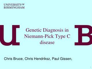 Genetic Diagnosis in Niemann-Pick Type C disease