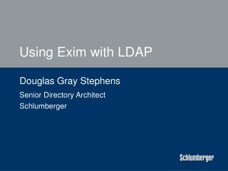 Using Exim with LDAP