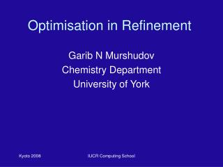 Optimisation in Refinement
