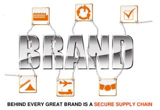 BEHIND EVERY GREAT BRAND IS A  SECURE SUPPLY CHAIN