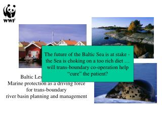 Baltic Lessons Learned: Marine protection as a driving force for trans-boundary