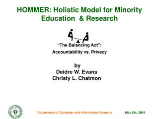 HOMMER: Holistic Model for Minority Education  & Research