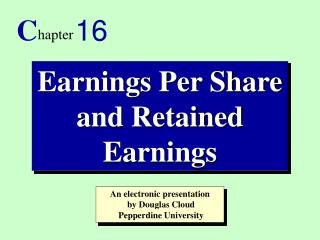 Earnings Per Share and Retained Earnings