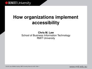How organizations implement accessibility